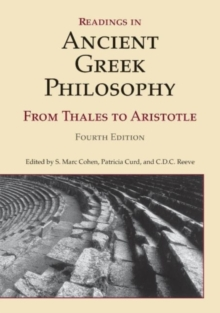 Readings in Ancient Greek Philosophy : From Thales to Aristotle, Paperback Book