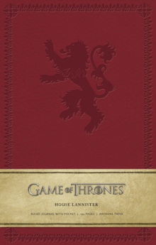 Game of Thrones Ruled Journal : House of Lannister, Hardback Book