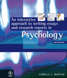 An Interactive Approach to Writing Essays and Research Reports in Psychology, Paperback Book