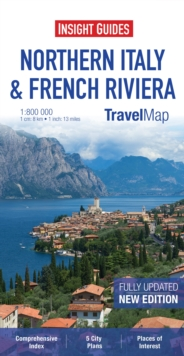 Insight Travel Map: Northern Italy & French Riviera, Sheet map