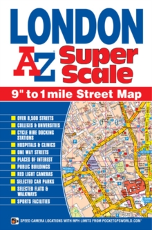 London Super Scale Map, Sheet map, folded