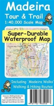 Madeira Tour & Trail Super-Durable Map, Sheet map, folded