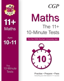10-Minute Tests for 11+ Maths (Ages 10-11) - CEM Test, Paperback