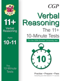 10-Minute Tests for 11+ Verbal Reasoning (Ages 10-11) - CEM Test, Paperback Book