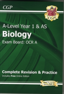 New A-Level Biology: OCR A Year 1 & AS Complete Revision & Practice with Online Edition : Exam Board: OCR A, Paperback