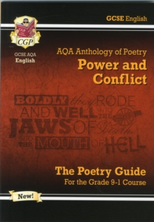 New GCSE English Literature AQA Poetry Guide: Power & Conflict Anthology - For the Grade 9-1 Course, Paperback
