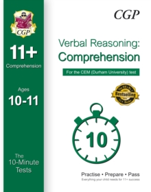 10-Minute Tests for 11+ Comprehension (Ages 10-11) - CEM Test, Paperback