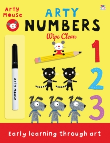 Arty Numbers Wipe Clean, Paperback Book