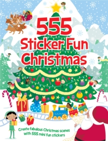 555 Sticker Fun Christmas, Paperback Book