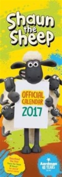 Shaun the Sheep Official 2017 Slim Calendar, Calendar