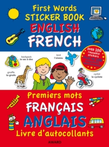 First Words Sticker Book : English - French, Paperback