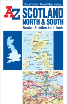 Scotland Road Map, Sheet map, folded