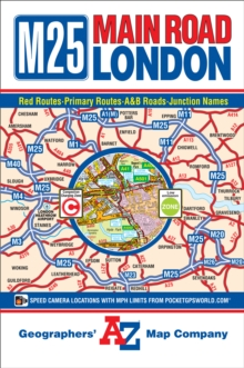M25 Main Road Map of London, Sheet map, folded