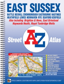 East Sussex Street Atlas, Spiral bound Book