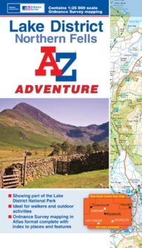 Lake District (Northern Fells) Adventure Atlas, Paperback