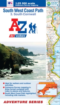 SW Coast Path South Cornwall Adventure Atlas : South Cornwall, Paperback