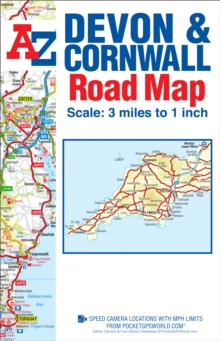 Devon & Cornwall Road Map, Sheet map, folded