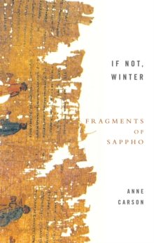 If Not, Winter : Fragments of Sappho, Paperback