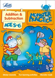 Letts Monster Practice : Addition and Subtraction Age 5-6, Paperback