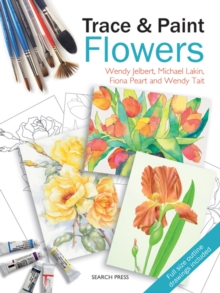 Trace & Paint Flowers, Paperback Book