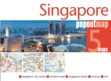 Singapore PopOut Map, Sheet map, folded