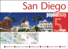 San Diego Popout Map, Sheet map, folded