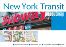 New York Transit Popout Map, Sheet map, folded