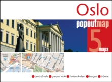 Oslo Popout Map, Sheet map, folded