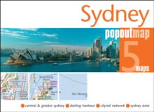 Sydney Popout Map, Sheet map, folded