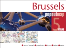 Brussels PopOut Map, Sheet map, folded