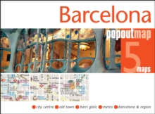 Barcelona PopOut Map, Sheet map, folded