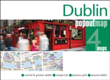 Dublin PopOut Map, Sheet map, folded