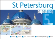 St Petersburg Popout Map, Sheet map, folded