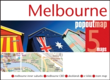 Melbourne Popout Map, Sheet map, folded