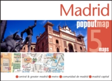 Madrid Popout Map, Sheet map, folded