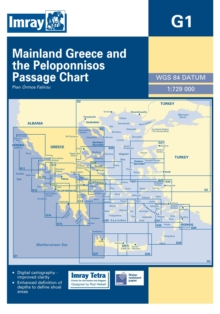 Imray Chart G1 : Mainland Greece and the Peloponnisos, Sheet map, folded