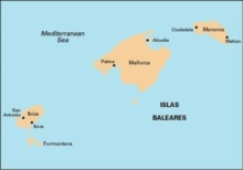 Imray Chart M3 : Islas Baleares, Sheet map, folded