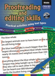 Proofreading and Editing Skills : Practical Activities Using Text Types Middle, Paperback
