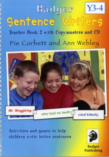 Sentence Writers Teacher Book & CD: Year 3-4 : Activities and Games to Help Children Write Better Sentences, Mixed media product