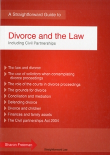 Divorce And The Law, Paperback