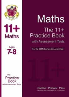 11+ Maths Practice Book with Assessment Tests (Age 7-8) for the CEM Test, Paperback Book