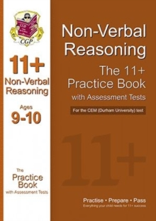 11+ Non-verbal Reasoning Practice Book with Assessment Tests (Age 9-10) for the CEM Test, Paperback
