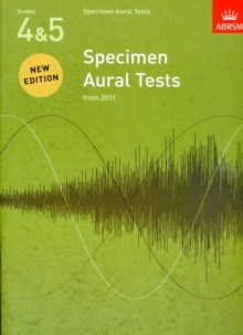 Specimen Aural Tests, Grades 4 & 5 : from 2011, Sheet music Book