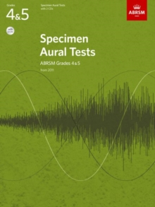 Specimen Aural Tests, Grades 4 & 5, with 2 CDs : from 2011, Sheet music