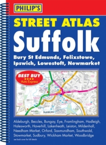 Philip's Street Atlas Suffolk, Spiral bound