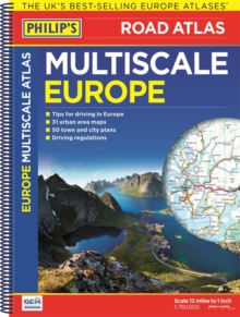 Philip's Multiscale Europe, Spiral bound Book