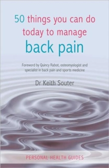 50 Things You Can Do Today To Manage Back Pain, Paperback