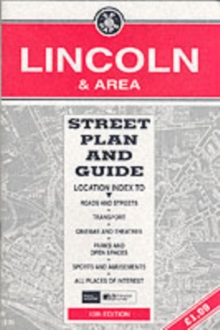 Lincoln : Street Plan and Guide, Sheet map, folded