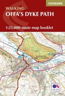 Offas Dyke Map Booklet : 1:25,000 OS Route Mapping, Paperback Book