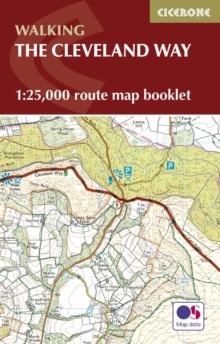 The Cleveland Way Map Booklet : 1:25,000 OS Route Mapping, Paperback